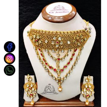 22 carat gold classical fashion ladies necklace set RH-LS508
