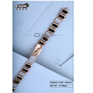 18 carat Rose gold rudraksh gents bracelet rxg0013 by