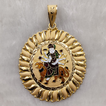 916 Gold Fancy Gent's Ambaji Minakari Pandal