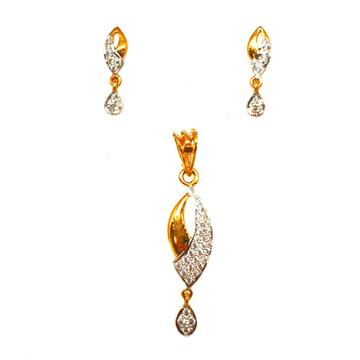 22K Gold Fancy Pendant Set MGA - PTG0015