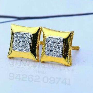 18kt Square Shape Gold Cz Ladies Tops ATG -0320
