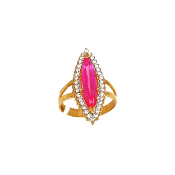 22K Gold Pink Marquis Stone Designer Ring MGA - LRG0222