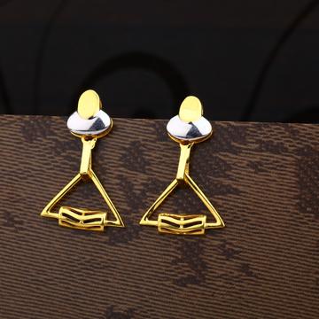 Ladies 916 gold Fancy CZ Earring -LPE166
