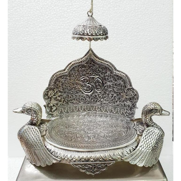 925 Pure Silver Antique Singhasan With Ducks Po-14...