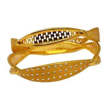 1 Gram Gold Forming Fancy Kadli Bangles MGA - KDE0027