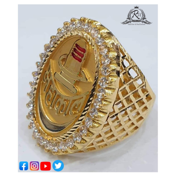 22 carat gold traditional gents rings RH-GR250