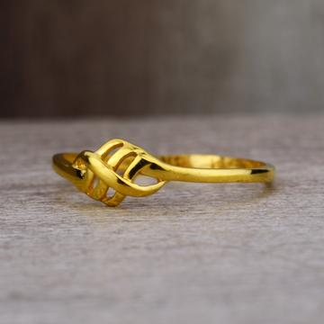 Ladies 916 Gold New Casting Designer Ring -LPR31