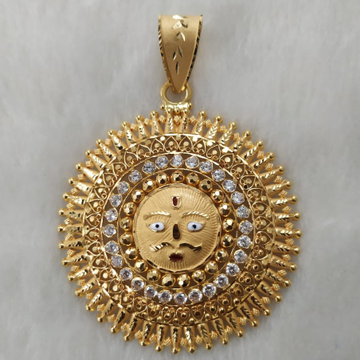 916 Gold Fancy Gent's Surya Pendant