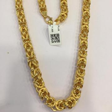 22KT Yellow Gold Desirous Gold Fancy Chain For Men