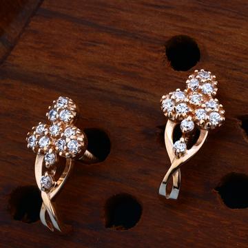18kt CZ Rose Gold Stylish Earring For Women
