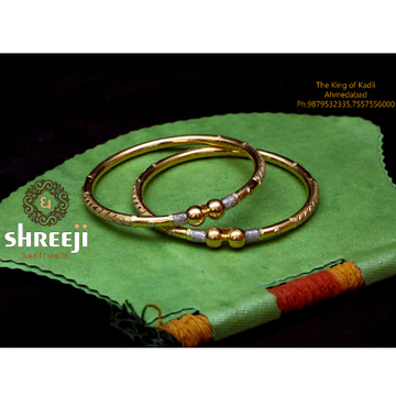 916 Gold Antique Modhiya Copper Kadli Bangle