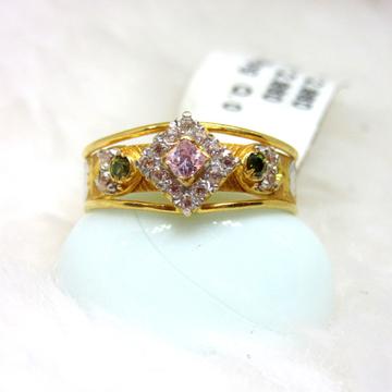 Gold designer fancy ladies ring