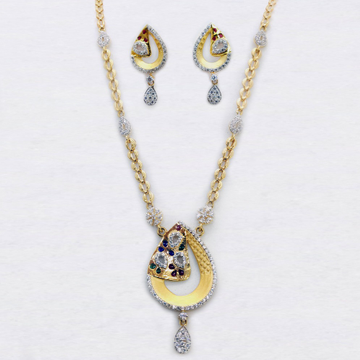 916 Gold Delicate Necklace Set SK-N010 by