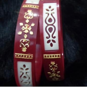 22KT Gold Ethnic Design Hallmark Plastic Bangle  by