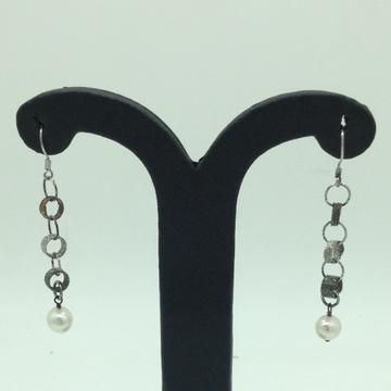 PearlSilverEar HangingsJER0116