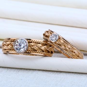 18 carat gold couple rose rings RH-CR627