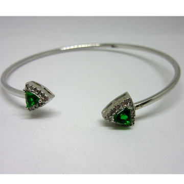 Silver 925 green stone adjustable bracelet sb925-9