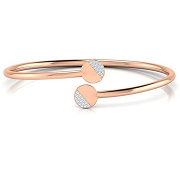 18kt rose gold and diamond round on round design adjustable bracelet for women jkb025