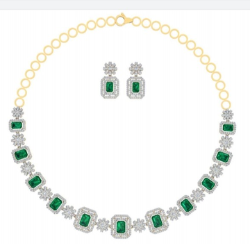 cz necklace emerald touch