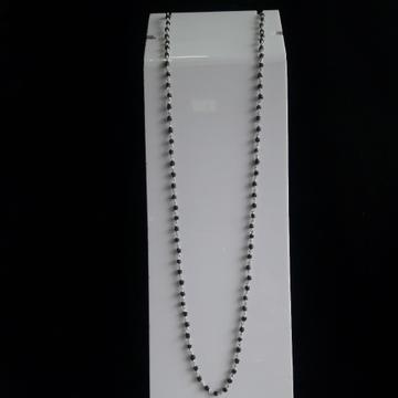 silver black Tulsi mala by