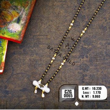 916 Gold Traditional CZ Mangalsutra CZG-0065