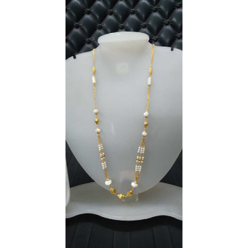22KT White Beaded Gold Fancy Mala