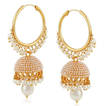 22kt, 916 hm, yellow gold beaded hoops with jummar jke102