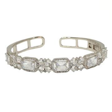 925 Sterling Silver Modern Kada Bracelet MGA - BRS1793