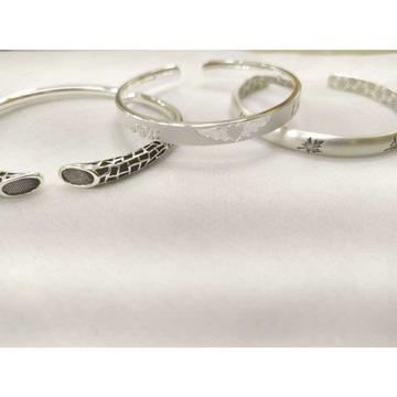999 sterling silver dull & oxodize kada bracelet ms-2804