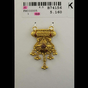 916 calcutti antique mangalsutra pendant