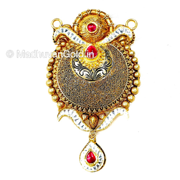 22k Gold Antique Oxidised Mangalsutra Pendant MGA - MGP012