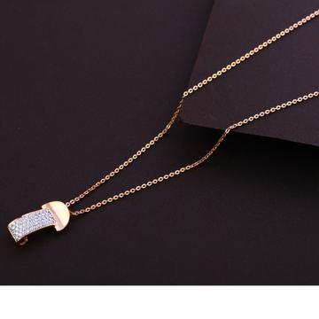 750 Rose Gold Stylish Ladies Necklace Tanmaniya RT...