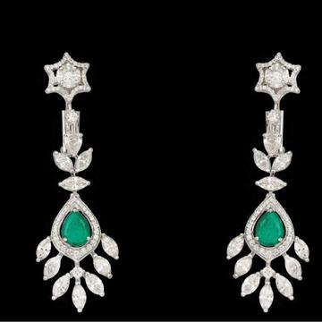 Diamonds and Emeralds EarringsJSJ0089