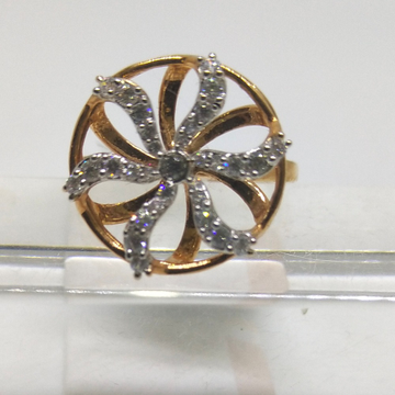 18K Designer wedding special rose gold ring