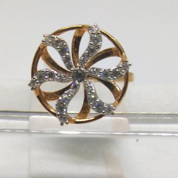 18K Designer wedding special rose gold ring by