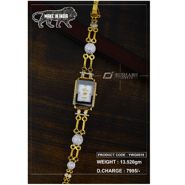 18 Carat Gold Ladies gold watch ywg0018