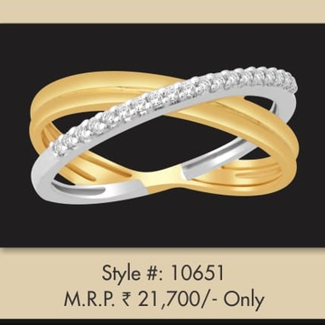 22Kt Gold Designer Double Tone Ring MJ-R002 by