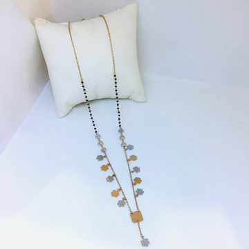 Fancy rose gold mangalsutra by