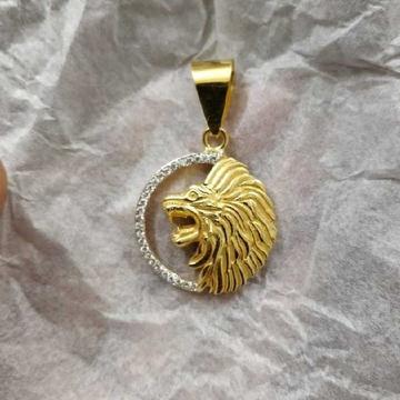 Bahubali lion face pendant