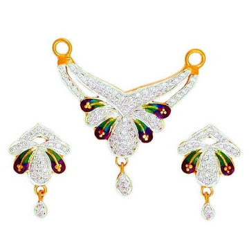 22K Gold CZ Attractive Colorful Mangalsutra Pendant