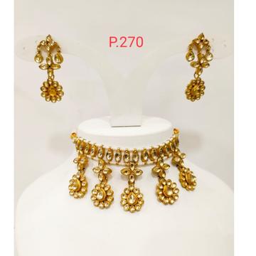 Antique kundan necklace mini choker  1180