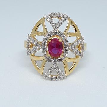 916 Gold CZ Fancy Ring JJ-R01 by