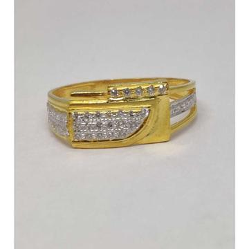 22k Gents Fancy Gold Ring Gr-28599