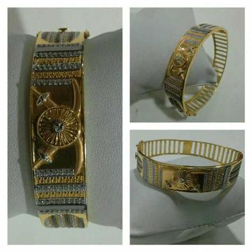 916 Fancy Gold Lock Kada G-3417