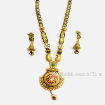 22kt Gold Attractive Long Necklace Set