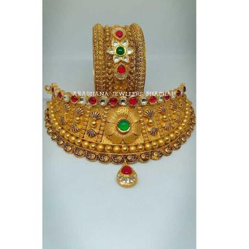 22KT Gold Antique Bridal Set