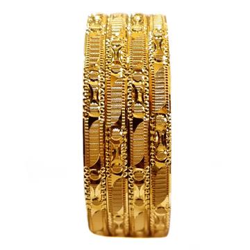 22K Gold Fancy Bangles MGA - GB0005
