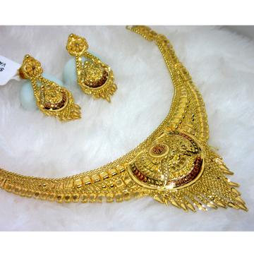 Simple culcutti gold necklace set