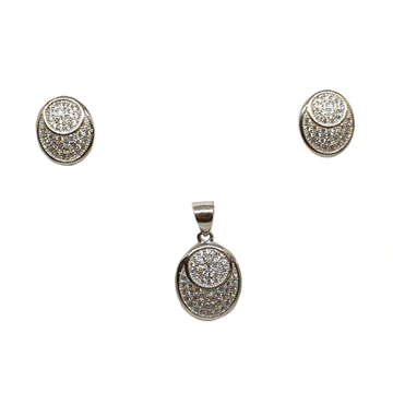 925 Sterling Silver Oval Shaped Designer Pendant Set MGA - PTS0106
