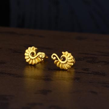 Ladies 22k Gold Casting Plain Earring -LPE155